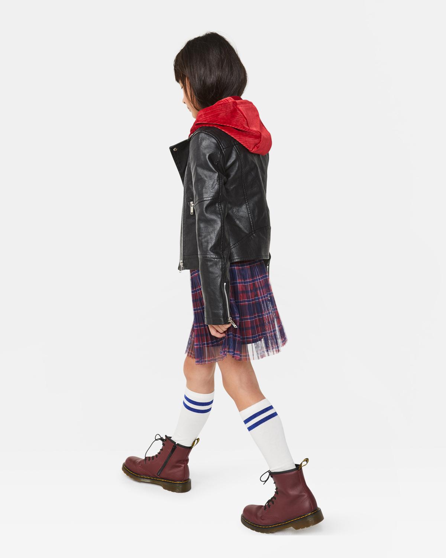 Mädchen Bikerjacke aus Lederimitat | 94884586 WE Fashion
