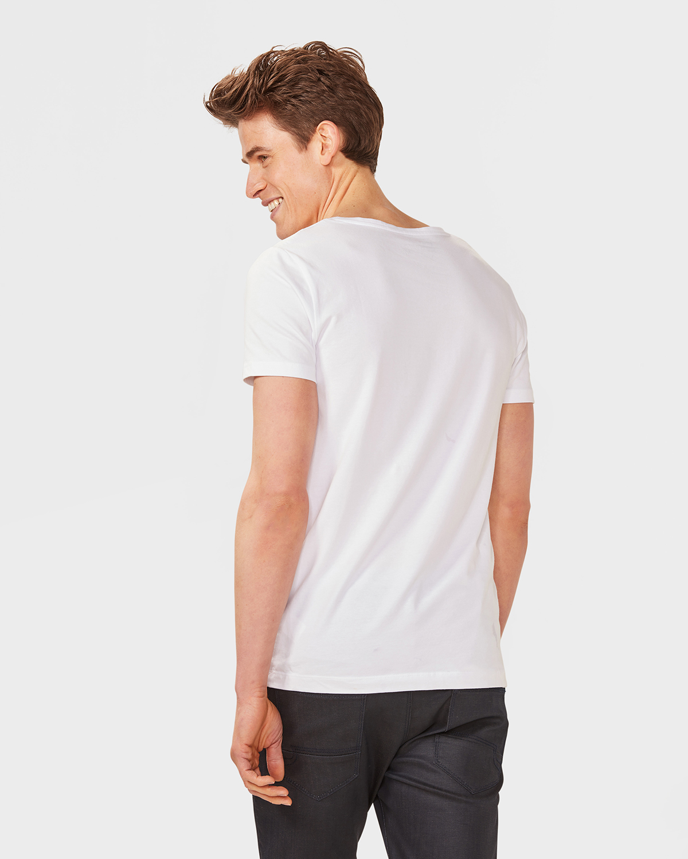 Herren t shirt mit tiefem ausschnitt 78834958 we fashion for Low cut mens t shirts